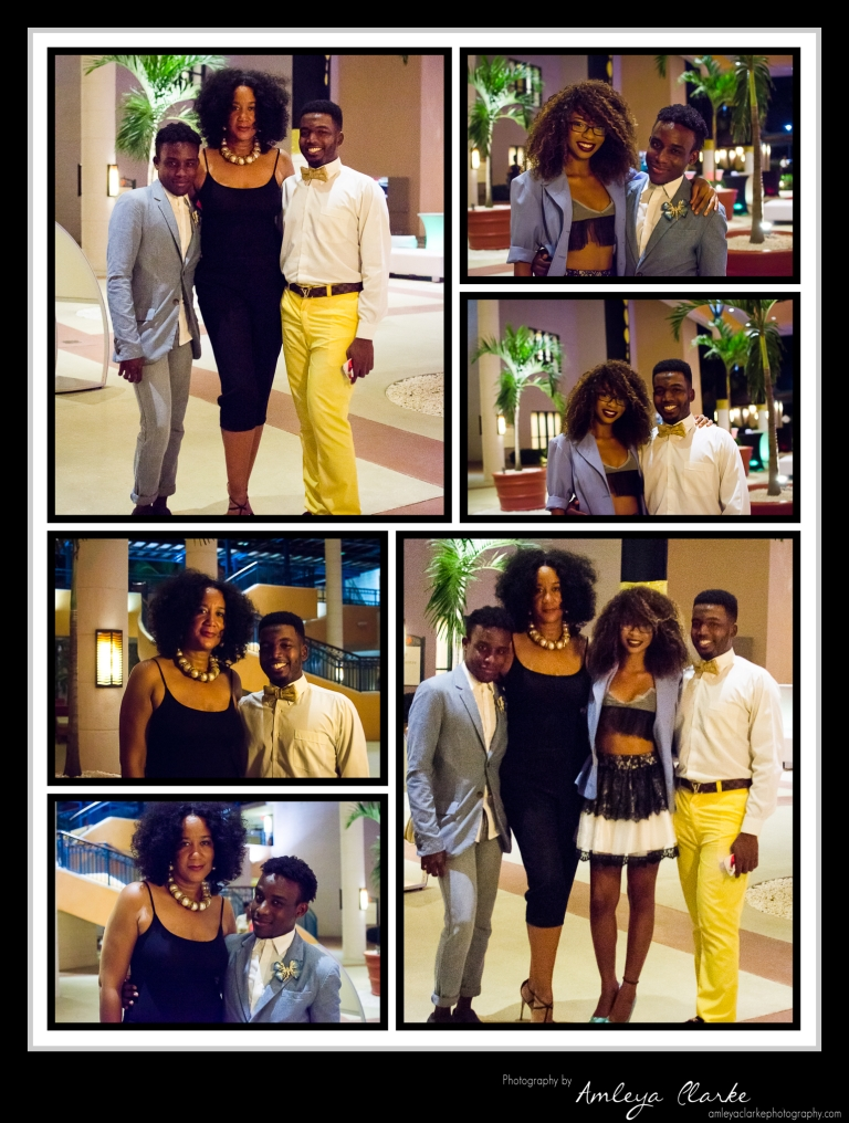 Orlando, Steffan, Melanie along with Joycie Mederick of St. Lucia Fashion Week and  Cinnamon Event Productions.